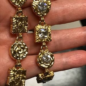 Vintage Gold Tone Ornate Gothic Chunky Bracelet